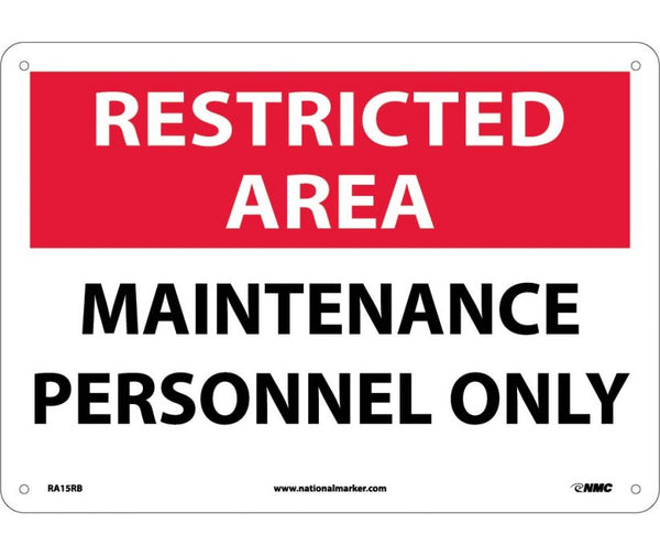 RA15 National Marker Admittance and Security Signs Restricted Area Maintenance Personnel Only
