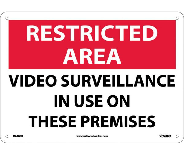 RA30 National Marker Admittance and Security Signs Restricted Area Video Surveillance In Use On These Premises