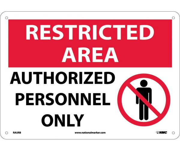 RA5 National Marker Restricted Area Header Signs: Authorized Personnel Only