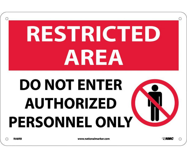 RA8 National Marker Admittance and Security Signs Restricted Area Do Not Enter Authorized Personnel Only