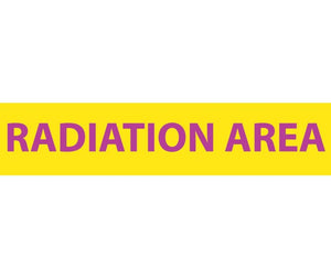 RADIATION, RADIATION AREA, 1 3/4X8, LEXAN