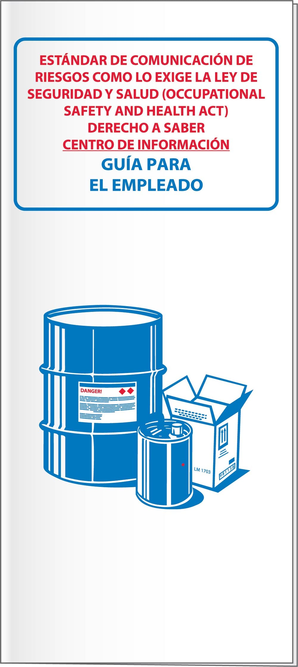 HAZCOM/GHS/RTK BOOKLETS/MANUALS, W/ CARD INSERT, 10/PK - SPANISH