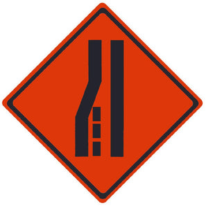TRAFFIC, MERGE RIGHT SYMBOL, 36X36, ROLL UP SIGN, REFLECTIVE VINYL MATERIAL