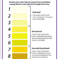 ARE YOU HYDRATED URINE COLOR CHART SIGN, 10X7, .040 ALUM