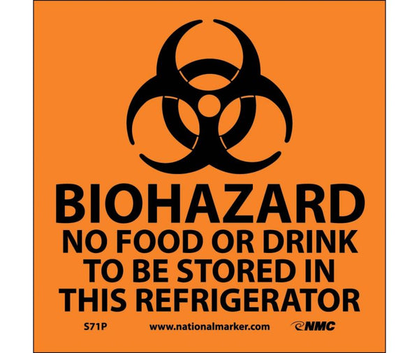 BIOHAZARD NO FOOD OR DRINK TO BE STORED.. (W/GRAPHIC), 7X7, PS VINYL