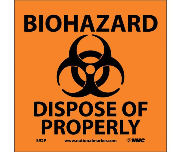 BIOHAZARD DISPOSE OF PROPERLY (W/GRAPHIC), 7X7, PS VINYL