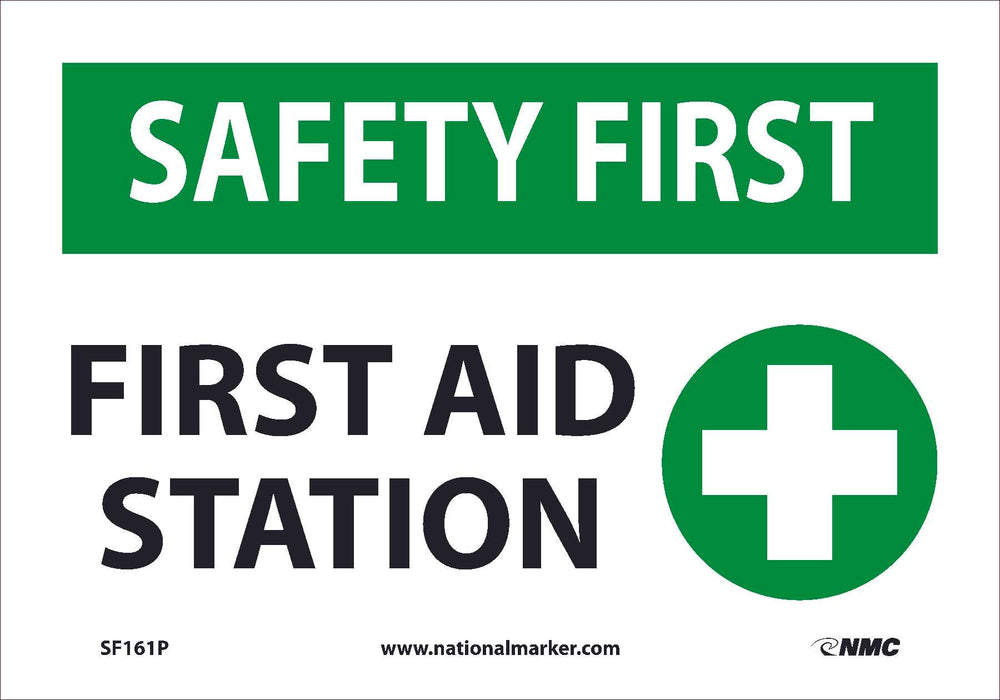 FIRST AID STATION, 7X10, .0045 PRESSURE SENSITIVE VINYL