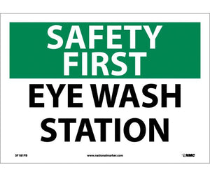 SAFETY FIRST, EYE WASH STATION, 10X14, PS VINYL