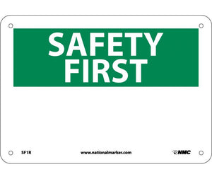 SAFETY FIRST, (HEADING ONLY), 7X10, RIGID PLASTIC