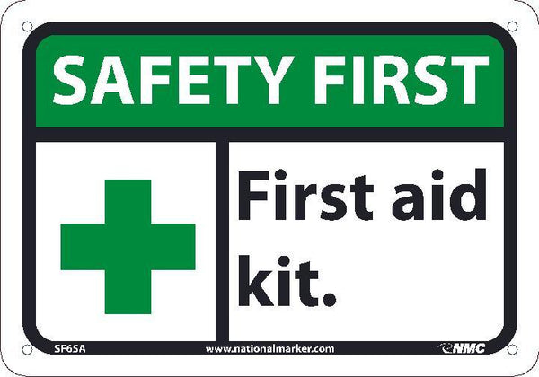SF65 National Marker Safety First Header First Aid Kit