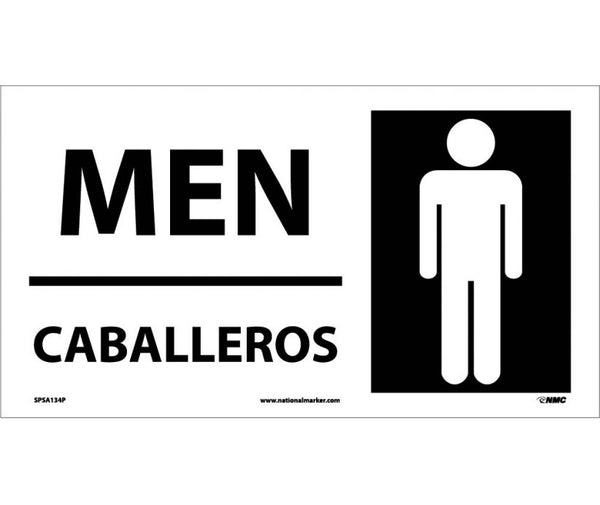 SPSA134 National Marker Bilingual English and Spanish Signs Men