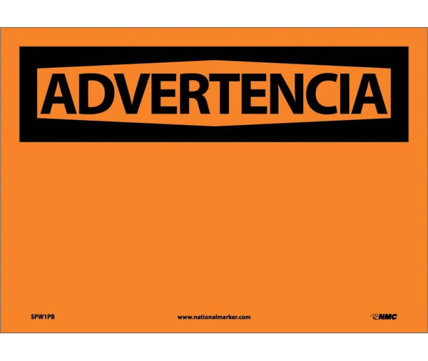 ADVERTENCIA, BLANK, 10X14, PS VINYL