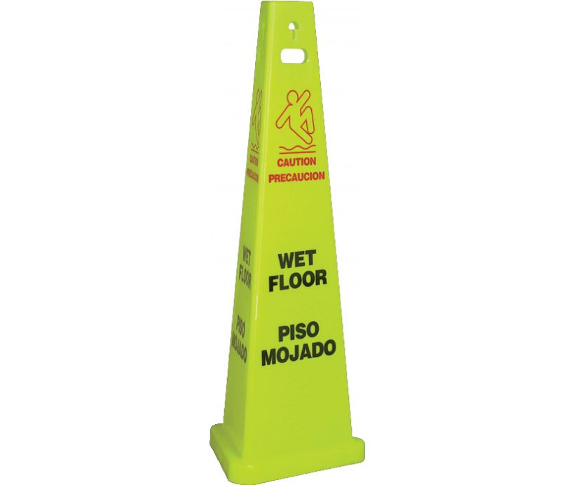 FLOOR SIGN, WET FLOOR, ENGLISH/SPANISH, 40