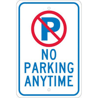GRAPHIC, NO PARKING ANYTIME, 18X12, .080 EGP REF ALUM