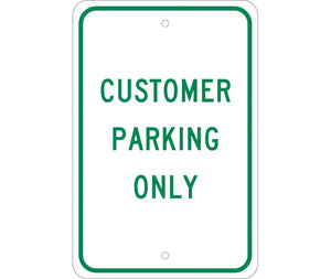 CUSTOMER PARKING ONLY, 18X12, .080 EGP REF ALUM