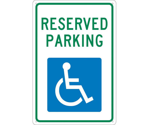 Reserved Parking HDCP Symbol: Accessible Parking Signs (TM87) By National Marker