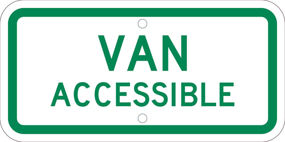VAN ACCESSIBLE, 6X12 PLAQUE SIGN, .080 REF ALUM
