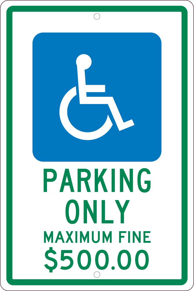 PARKING ONLY,18X12, .063 ALUM SIGN