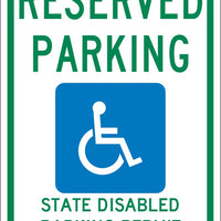 RESERVED PARKING STATE PERMIT REQUIRED , 18X12, .040 ALUM SIGN