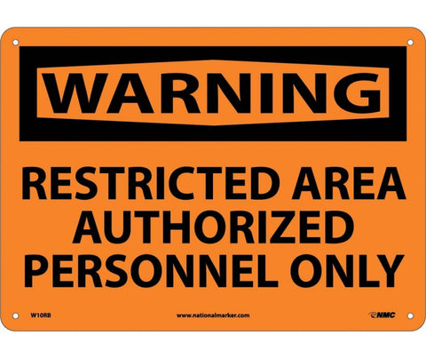 Restricted Area Authorized Personnel Only: Warning Header Safety Signs (W10) | Each