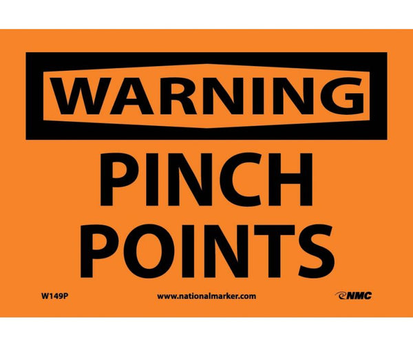 WARNING, PINCH POINTS, 7X10, PS VINYL