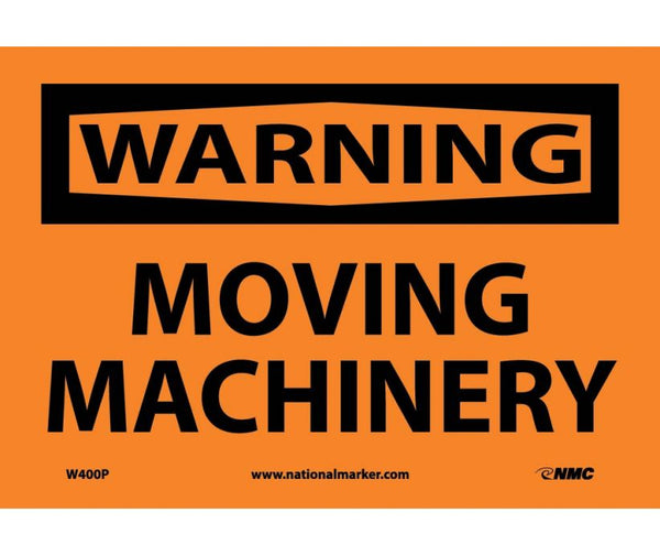 WARNING, MOVING MACHINERY, 7X10, PS VINYL