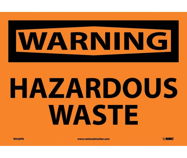 W426 National Marker Chemical and Hazardous Material Safety Signs Warning Hazardous Waste