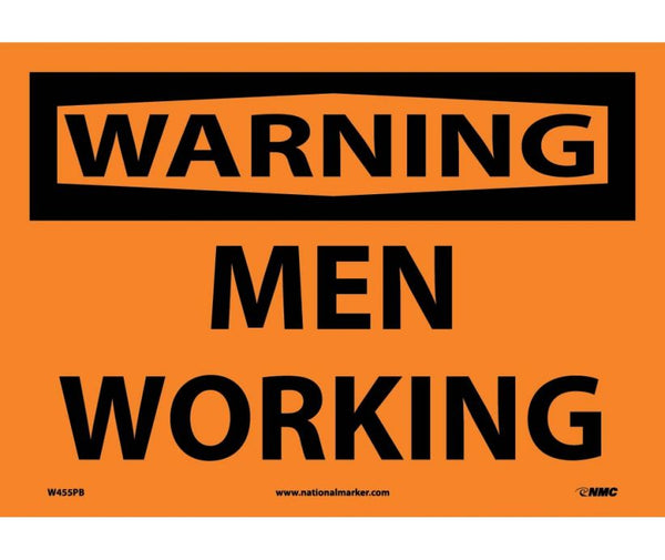 WARNING, MEN WORKING, 10X14, PS VINYL