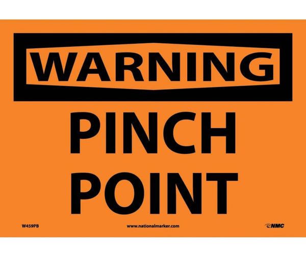 WARNING, PINCH POINT, 10X14, PS VINYL