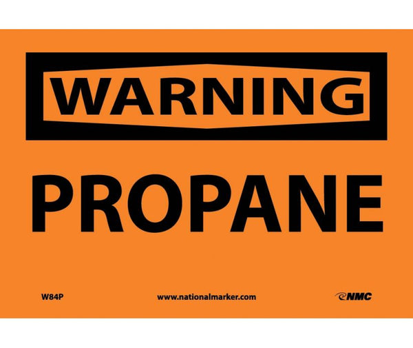W84 National Marker Chemical and Hazardous Material Safety Signs Warning Propane