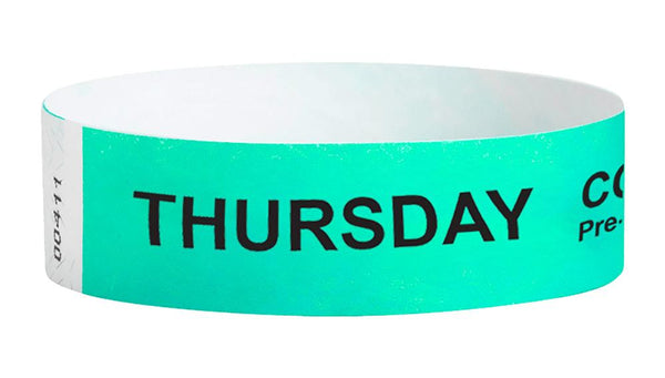 Thursday Covid-19 Pre-Screened Workplace Jobsite Health Screening Wristbands | WB01AQ