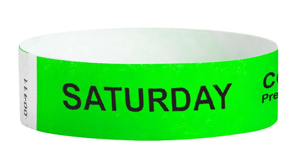 Saturday Covid-19 Pre-Screened Workplace Jobsite Health Screening Wristbands | WB01GR