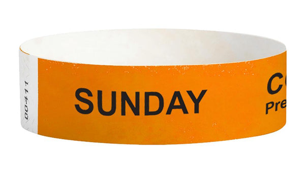 Sunday Covid-19 Pre-Screened Workplace Jobsite Health Screening Wristbands | WB01OR