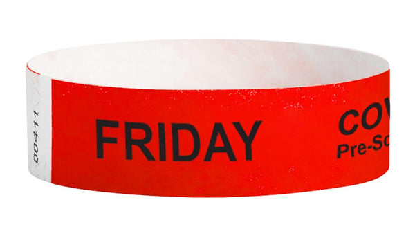 Friday Covid-19 Pre-Screened Workplace Jobsite Health Screening Wristbands | WB01RD