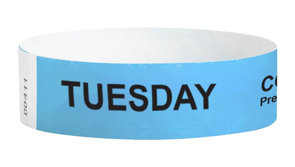 Tuesday Covid-19 Pre-Screened Workplace Jobsite Health Screening Wristbands | WB01SB