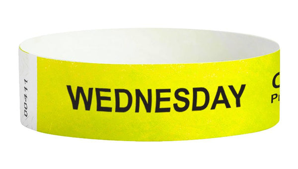 Wedensday Covid-19 Pre-Screened Workplace Jobsite Health Screening Wristbands | WB01YL