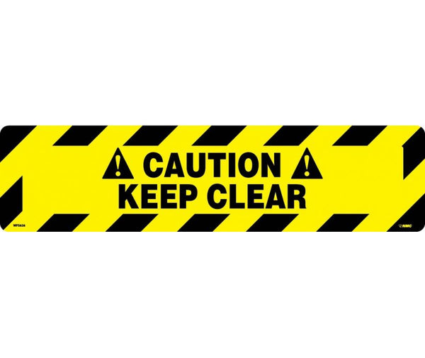 Caution Keep Clear Anti-Slip Cleats | WFS626 | 6