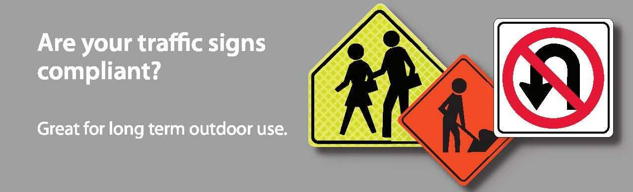 National Marker Compliant Traffic Signs  - From Rutke Signs www.signslabelsandtags.com