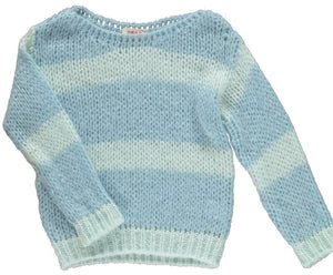 Angel Knitted Jumper Sky