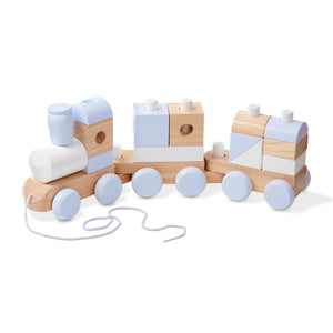Melissa & Doug - Wooden Jumbo Stacking Train - Natural
