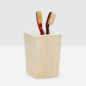 Pigeon & Poodle - Maranello Square Brush Holder - Beige/White
