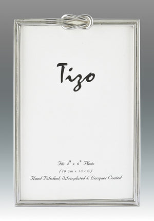 Tizo - Square Knot Silver Plated Frame