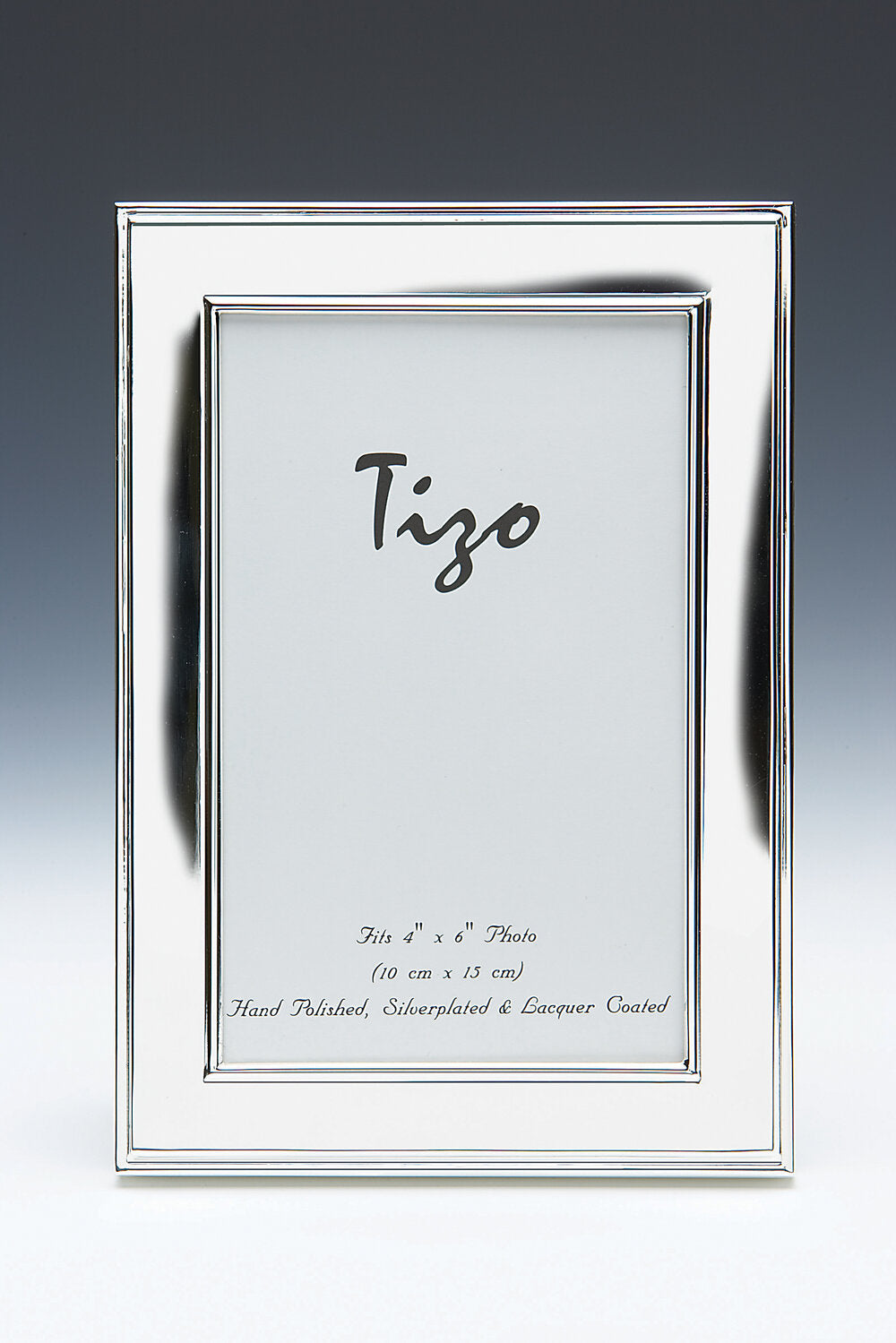 Tizo - Silver-Plated with Double Ridge Border