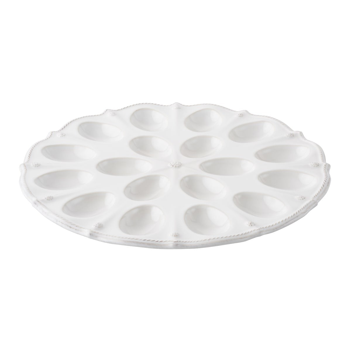 Juliska - Berry & Thread Whitewash Deviled Egg Platter