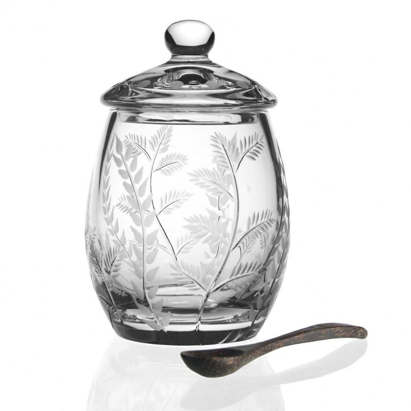 William Yeoward - Fern Covered Honey Jar With Spoon