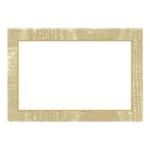 Caspari - Moiré Place Cards in Gold - 10 Per Package