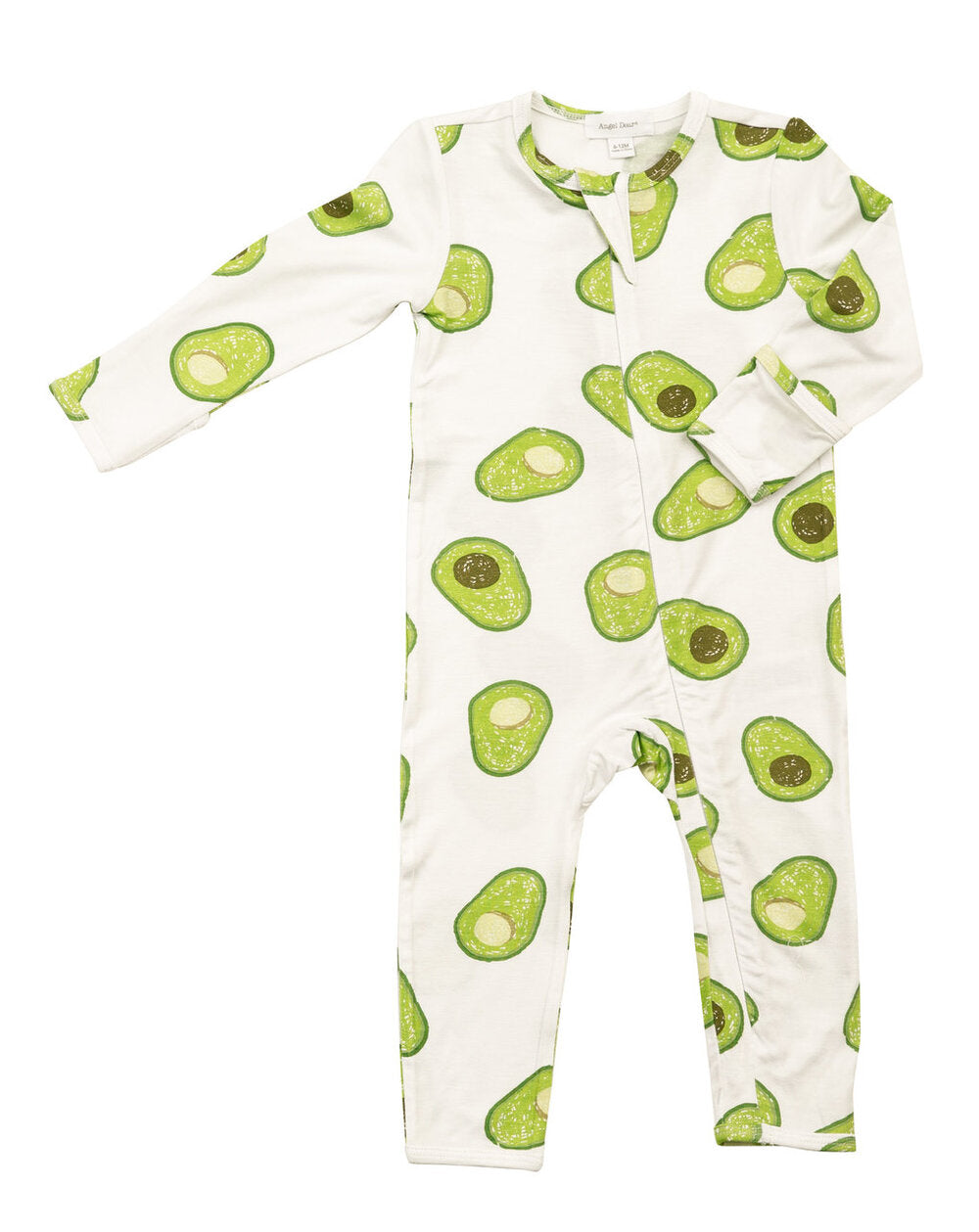 Angel Dear - Zipper Romper in Avocado