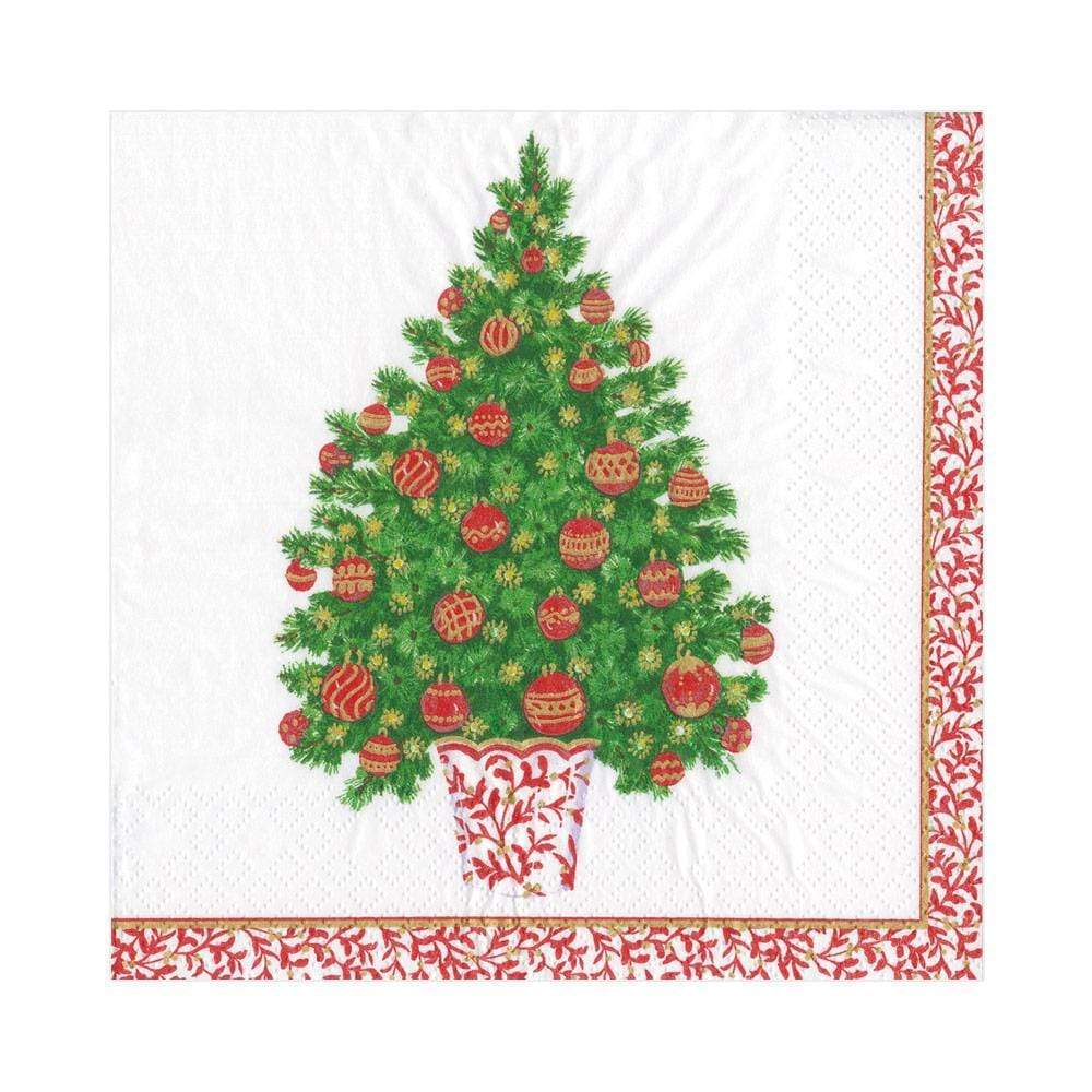 Caspari - Decorated Tree Paper Luncheon Napkins - 20 Per Package