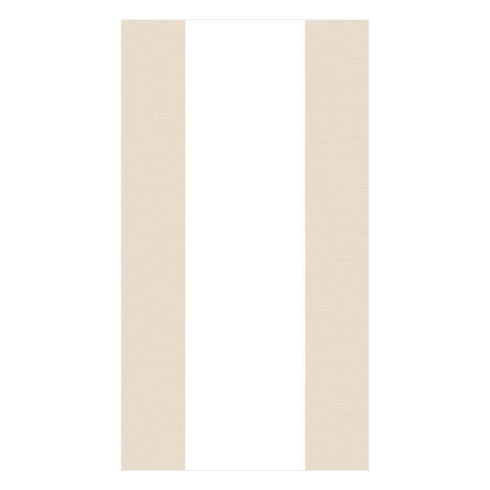 Caspari - Bandol Stripe Paper Guest Towel Napkins in Natural - 15 Per Package