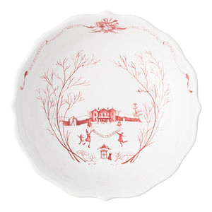"Juliska - Country Estate Winter Frolic Ruby 10"" Serving Bowl"